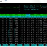 HTOP nur eine CPU ausgelastet