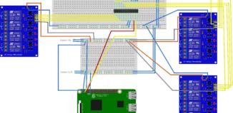 Raspberry Pi mit I2C Port Expander MCP23017 12 Relais
